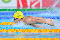 Jayden Hadler of AUS competes in 4x100 meter medley relay final during Commonwealth Games, Tuesday, July 29, 2014 in Glasgow, United Kingdom. (Mo Khursheed/TFV Media via AP Images)