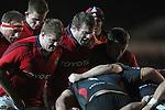 Stephen Archer and Denis Fogarty..RaboDirect Pro12.Dragons v Munster.03.03.12.©STEVE POPE