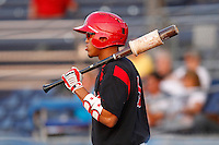 Batavia Muckdogs outfielder Reggie Williams #3 during a game against the Williamsport Crosscutters at Dwyer Stadium on August 24, 2011 in Batavia, New York.  Batavia defeated Williamsport 8-7.  (Mike Janes/Four Seam Images)