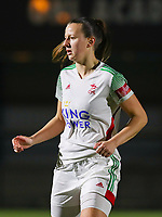 Hannah Eurlings (9 OHL) pictured during a female soccer game between Oud Heverlee Leuven and Standard Femina De Liege on the 10th matchday of the 2020 - 2021 season of Belgian Womens Super League , sunday 20 th of December 2020  in Heverlee , Belgium . PHOTO SPORTPIX.BE | SPP | SEVIL OKTEM