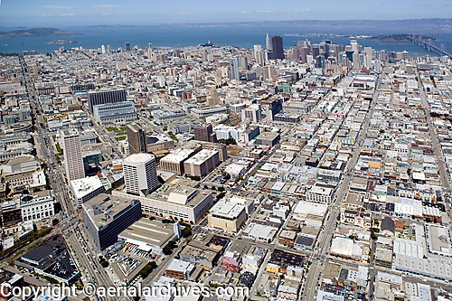 aerial photograph Howard Street SOMA San Francisco, California