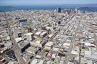 aerial photograph Howard Street SOMA San Francisco, California