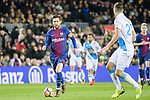 Lionel Messi of FC Barcelona (L) runs with the ball during the La Liga 2017-18 match between FC Barcelona and Deportivo La Coruna at Camp Nou Stadium on 17 December 2017 in Barcelona, Spain. Photo by Vicens Gimenez / Power Sport Images
