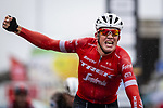 Mads Pedersen (DEN) Trek-Segafredo wins the 78th Edition of the Tour de l'Eurometropole 2018 running 206km from La Louviere to Tournai, France. 22nd September 2018.  <br /> Picture: Gregory Van Gansen/BettiniPhoto | Cyclefile<br /> <br /> <br /> All photos usage must carry mandatory copyright credit (© Cyclefile | Gregory Van Gansen/BettiniPhoto)