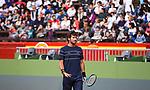 Davis Cup by BNP Paribas.<br /> World Group Quarterfinal.<br /> Spain vs Germany.<br /> Valencia (Spain).<br /> April 4, 2018.<br /> <br /> Feliciano López Training.