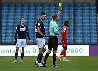 yellow card for for Ryan Leonard of Millwall during Millwall vs Nottingham Forest, Sky Bet EFL Championship Football at The Den on 19th December 2020