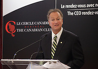 February 4, 2013  Photo - Montreal, Quebec, CANADA -<br /> Ronald Monet, President Canadian Club of Montreal 2012-2013