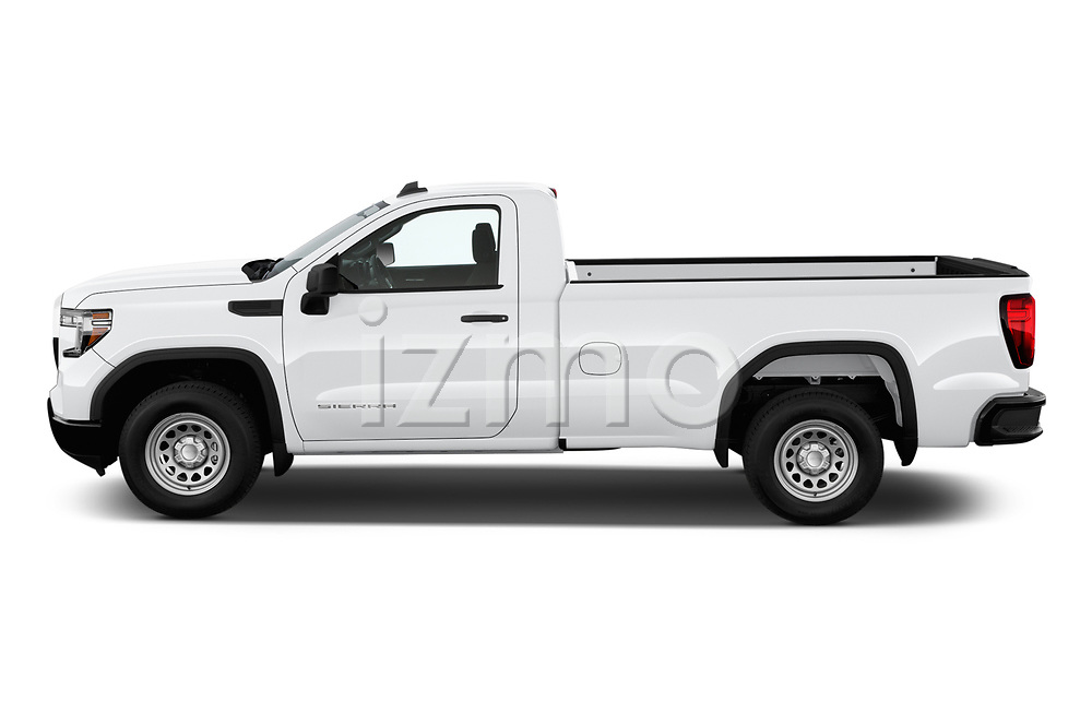 Car driver side profile view of a 2019 GMC Sierra 1500 Base 2 Door Pick Up