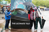 Fans of DK's wardrobe dressed for the occasion during India vs New Zealand, ICC World Test Championship Final Cricket at The Hampshire Bowl on 21st June 2021