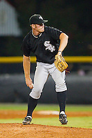 Relief pitcher Richard Marshall #23 of the Bristol White Sox in action against the Burlington Royals at Burlington Athletic Stadium August 13, 2010, in Burlington, North Carolina.  Photo by Brian Westerholt / Four Seam Images