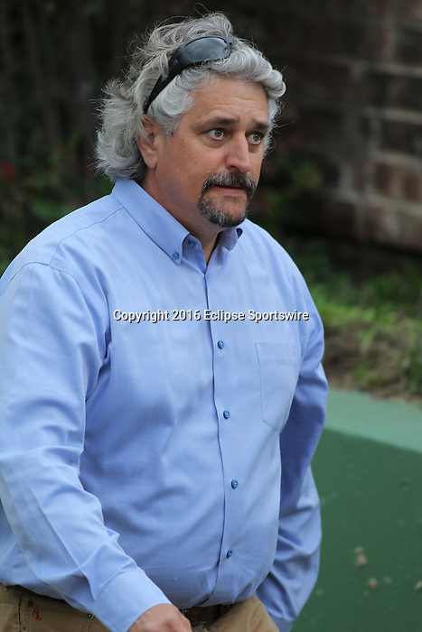 HOT SPRINGS, AR - MARCH 12: Terra Promessa (5) trainer Steve Asmussen before the running of the Honeybee Stakes at Oaklawn Park on March 12, 2016 in Hot Springs, Arkansas. (Photo by Justin Manning)