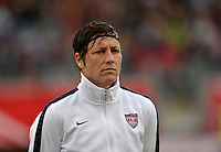 Offenbach, Germany, Friday, April 05 2013: Womans, Germany vs. USA, in the Stadium in Offenbach,  Abby Wambach (USA)..
