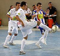 MANIZALES-COLOMBIA-10-03-2013. Partido de la segunda fecha de la Liga Argos Futsal I-2013./ Game of the second date of Argos Futsal League I-2013. Photo:VizzorImage / JJ Bonilla / CONT