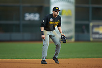 Missouri Tigers third baseman Luke Mann (16) on defense against the Texas Longhorns in game eight of the 2020 Shriners Hospitals for Children College Classic at Minute Maid Park on March 1, 2020 in Houston, Texas. The Tigers defeated the Longhorns 9-8. (Brian Westerholt/Four Seam Images)