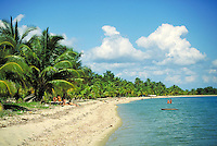 The beach Placencia, Belize. Placencia, Belize Central America.