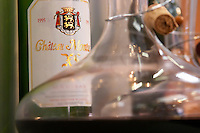 Chateau Montus XL 1995 Madiran in bottle and in a carafe decanter. France Madiran France