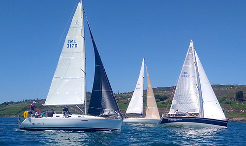 A 13 boat mixed cruiser fleet are contesting Schull Harbour Sailing Club's Summer Saturday Series