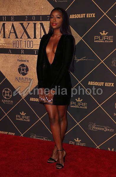 25 June 2017 - Hollywood, California - Justine Skye. 2017 MAXIM Hot 100 Party held at the Hollywood Palladium. Photo Credit: F. Sadou/AdMedia