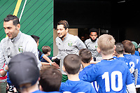 PORTLAND, OR - MARCH 01: Sebastian Blanco #10 of the Portland Timbers comes out for pre game warmups during a game between Minnesota United FC and Portland Timbers at Providence Park on March 01, 2020 in Portland, Oregon.