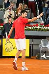 Serbian Novak Djokovic celebrating the victory during ATP Semi-Finals Mutua Madrid Open Tennis 2016 in Madrid, May 07, 2016. (ALTERPHOTOS/BorjaB.Hojas)