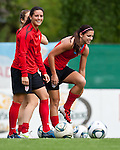15.06.2011, Steinbergstadion, Leogang, AUT, FIFA WOMENS WORLDCUP 2011, PREPERATION, USA, im Bild Ali Krieger, (USA, #11), Alex Morgan, (USA, #13) während eines Trainings zur Vorbereitung auf die FIFA Damen Fussball Weltmeisterschaft 2011 in Deutschland // during a Trainingssession for the FIFA Women´s Worldcup 2011 in Germany, on 2011/06/15, Steinberg Stadium, Leogang, Austria, EXPA Pictures © 2011, PhotoCredit: EXPA/ J. Feichter
