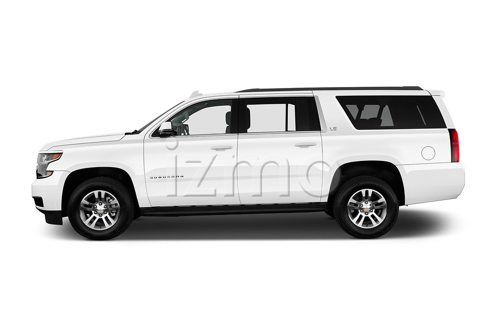 Car driver side profile view of a 2016 Chevrolet Suburban 1500 LS 5 Door SUV