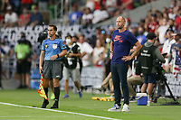 AUSTIN, TX - JULY 29: United States head coach Gregg Berhalter during a game between Qatar and USMNT at Q2 Stadium on July 29, 2021 in Austin, Texas.
