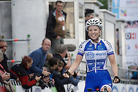 Kaat Hannes (BEL/Lensworld-Zannata) is the 2016 Belgian Elite Womens' Champion<br /> <br /> Belgian National Road Cycling Championships 2016<br /> Les Lacs de l'Eau d'Heure