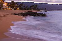 Twilight hour at Haleiwa Alii beach park, North shore Oahu