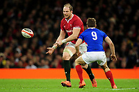 Alun Wyn Jones of Wales in action during the Guinness Six Nations Championship Round 3 match between Wales and France at the Principality Stadium in Cardiff, Wales, UK. Saturday 22 February 2020