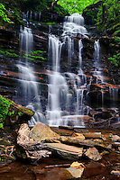 Ganoga Falls, The highest waterfall in Ricketts Glen State Park, A classic wedding cake waterfall.