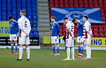 St Johnstone v Hamilton Accies…30.12.20   McDiarmid Park     SPFL<br />The players observe a minutes silence in memory of Jim McLean<br />Picture by Graeme Hart.<br />Copyright Perthshire Picture Agency<br />Tel: 01738 623350  Mobile: 07990 594431