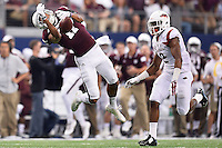 Texas A&M wide receiver Josh Reynolds (11) fails to catch a pass during second quarter of an NCAA Football game, Saturday, September 27, 2014 in Arlington, Tex. Arkansas leads 21-14 at the halftime. (Mo Khursheed/TFV Media via AP Images)