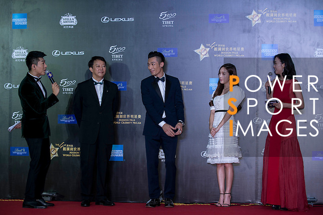 Pacha Chau and Jessica Jung at the Red Carpet event at the World Celebrity Pro-Am 2016 Mission Hills China Golf Tournament on 20 October 2016, in Haikou, China. Photo by Marcio Machado / Power Sport Images