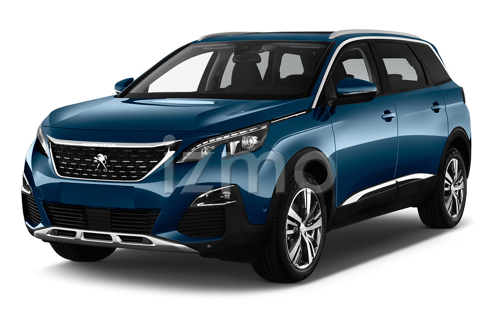 2017 Peugeot 5008 GT Line 5 Door SUV angular front stock photos of front three quarter view