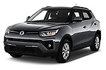 2020 Ssangyong Tivoli Quartz 5 Door SUV Angular Front automotive stock photos of front three quarter view