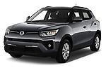 2020 Ssangyong Tivoli Quartz 5 Door SUV Angular Front automotive stock photos of front three quarter view