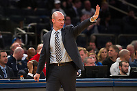 NEW YORK, NY - Thursday March 9, 2017: Seton Hall head coach Kevin Willard calls a play from the sidelines against Marquette as the two schools square off in the Quarterfinals of the Big East Tournament at Madison Square Garden.