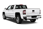 Car pictures of rear three quarter view of 2018 GMC Sierra 1500 Denali 4WD Crew Cab Short Box Denali 4 Door Pick-up Angular Rear