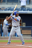 Daytona Cubs outfielder Zeke DeVoss (6) during a game against the Charlotte Stone Crabs on July 19, 2013 at Charlotte Sports Park in Port Charlotte, Florida.  The game was called in the seventh inning tied at zero due to rain.  (Mike Janes/Four Seam Images)