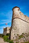 Frankreich, Provence-Alpes-Côte d'Azur, Nizza: auf dem Mont Boron im Parc du Mont Boron gelegenes Fort du Mont Alban | France, Provence-Alpes-Côte d'Azur, Nice: Fort du Mont Alban insice Parc du Mont Boron on hilltop Mount Boron