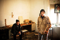 Inmates of Prison Colony 31 in their workshop. Kyrgyzstan's prisons are experiencing a TB epidemic, where the incidence rate is estimated at 25 times higher than in civil society.
