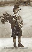 Jonny, CHILDREN, nostalgic, paintings, boy, flowers(GBJJ35,#K#) Kinder, niños, nostalgisch, nostálgico