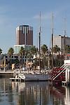Long Beach, California, Rainbow Harbor, historic ships, Southern California, United States,