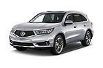 2017 Acura MDX SH-AWD Advance & Entertainment Package 5 Door SUV angular front stock photos of front three quarter view