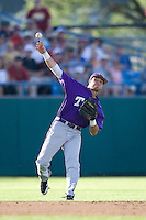TCU's Featherston, Taylor 2392.jpg against Florida State at the College World Series on June 23rd, 2010 at Rosenblatt Stadium in Omaha, Nebraska.  (Photo by Andrew Woolley / Four Seam Images)