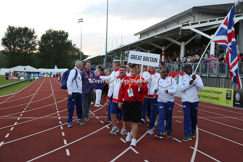 Monday August 18, 2014 <br /> Picture: Team GB <br /> RE: Team GB para-athletes at the opening ceremony of the 2014 IPC Athletics European Championships at Swansea University Sports Village.