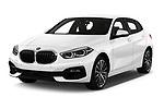 2020 BMW 1-Series Sport 5 Door Hatchback Angular Front automotive stock photos of front three quarter view