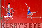 Thrilling action from the open air Circus Vegas on Saturday.