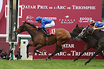 October 07, 2018, Longchamp, FRANCE - Wild Illusion with William Buick up winning the Prix de l'Opera Longines (Gr. I) at ParisLongchamp Race Course  [Copyright (c) Sandra Scherning/Eclipse Sportswire)]